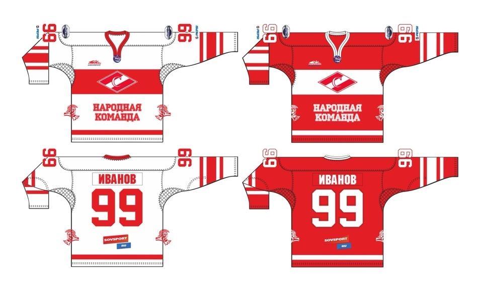 МХК «Спартак» представляет дизайн игровых маек сезона 2014-2015 (Фото)